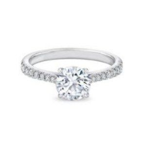Wedding ring 1.85 carats brilliant cut CVD diamond